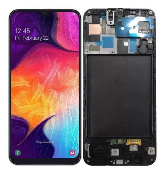 Display Frontal Touch Lcd Samsung Galaxy A50 A505 Original Nacional com Aro
